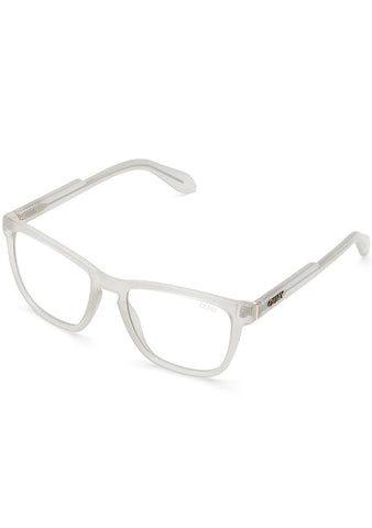 Hardwire Blue Light Glasses in White Clear Fade