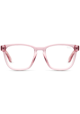 Quay Australia Blue Light Hardwire Glasses in Pink