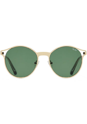 Here We Are Sunglasses in Gold/Green