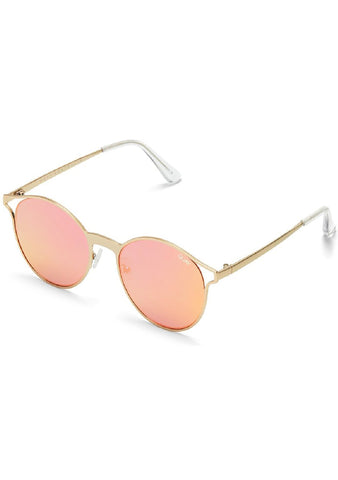 Here We Are Sunglasses in Gold/Rose