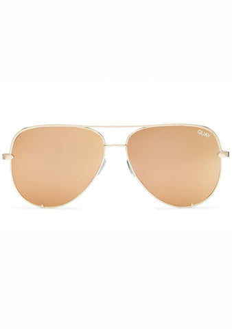Quay Australia X Desi Perkins High Key Sunglasses in Gold