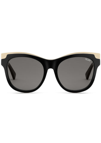 Quay Australia It's My Way Sunglasses in Black Gold/Smoke