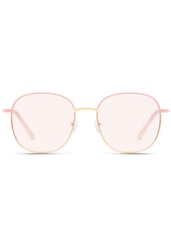 Jezabell Blue Light Glasses in Pink Gold