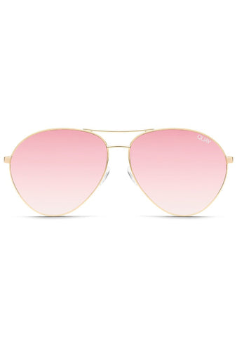 Just Sayin' Sunglasses in Gold/Pink