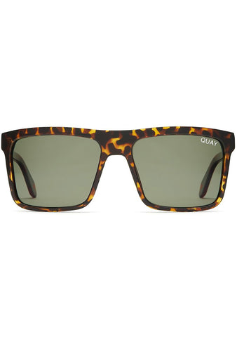 Let It Run Sunglasses in Tortoise/Green
