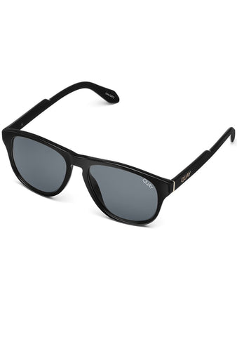 Lost Weekend Sunglasses in Black/Smoke