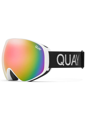 Mogul Goggles in White/Pink