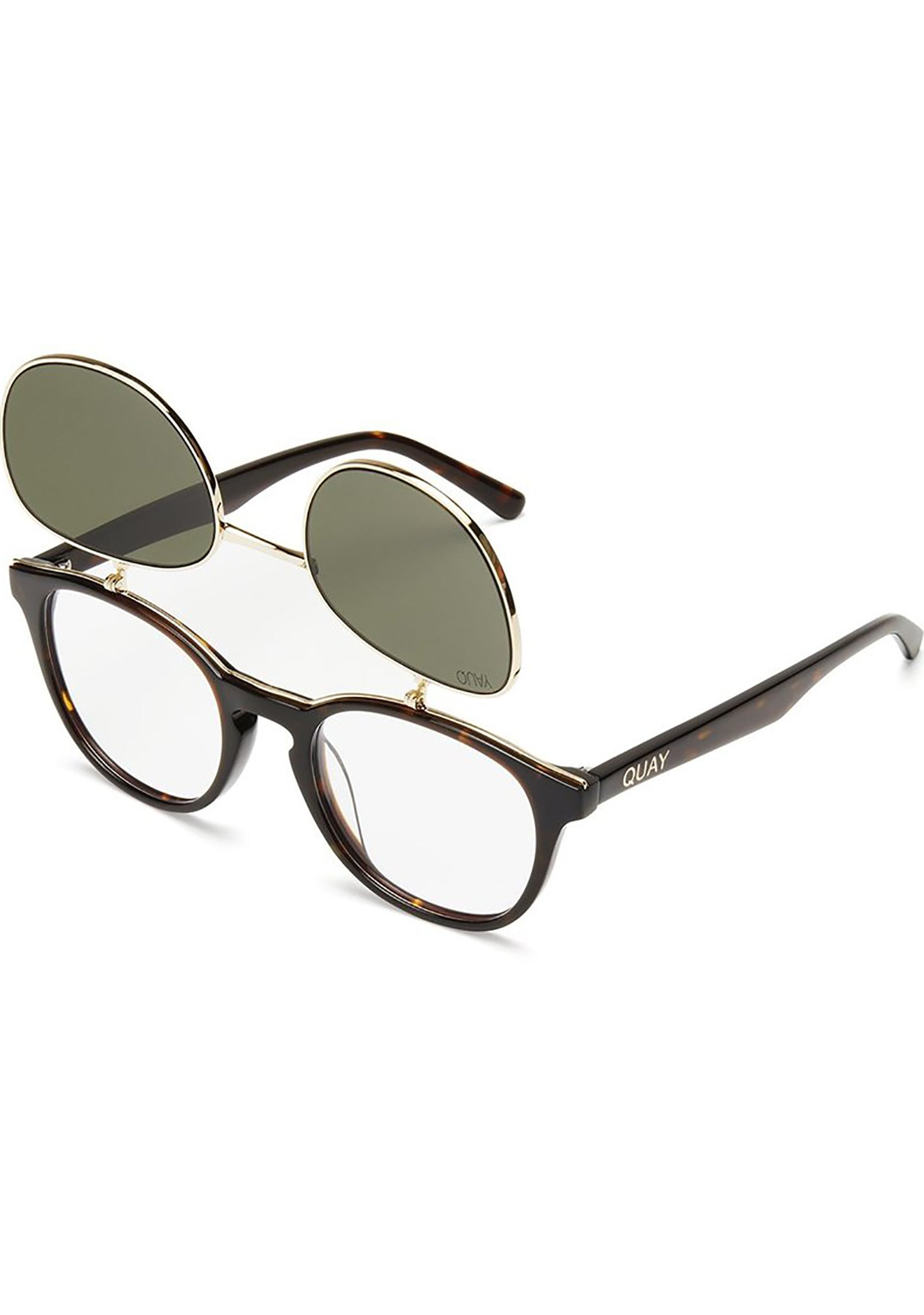 Penny Royal Sunglasses in Tortoise/Green