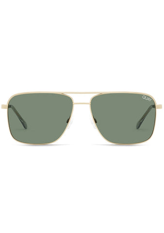 Poster Boy Sunglasses in Gold Green