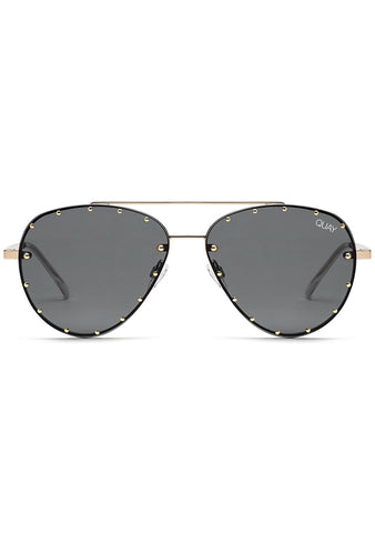 X Jaclyn Hill Roxanne Sunglasses in Gold/Black