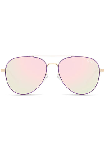 Quay Australia Single Sunglasses in Purple Pink