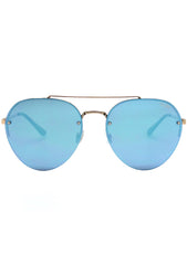 Quay Australia Somerset Sunglasses in Gold/Blue