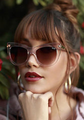 Steal A Kiss Sunglasses in Pink/Brown