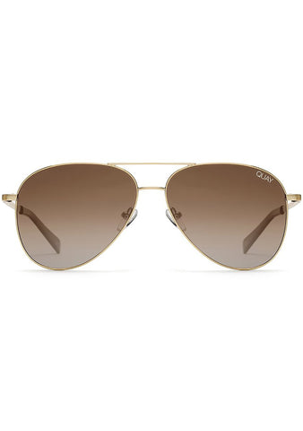 Still Standing Sunglasses in Gold/Taupe Smoke Fade