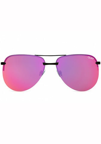 Quay Australia The Playa Sunglasses in Black/Pink