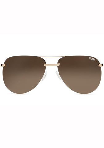 Quay Australia The Playa Sunglasses in Gold