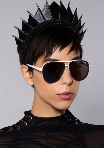 Quay Australia Tricky Sunglasses in White/Purple