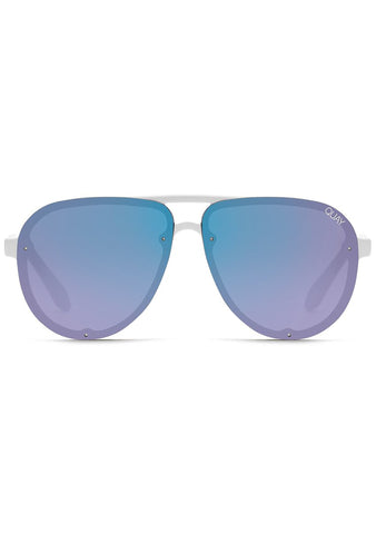 Tricky Sunglasses in White/Purple