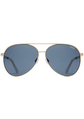 Vivienne Aviator Sunglasses in Gold/Smoke