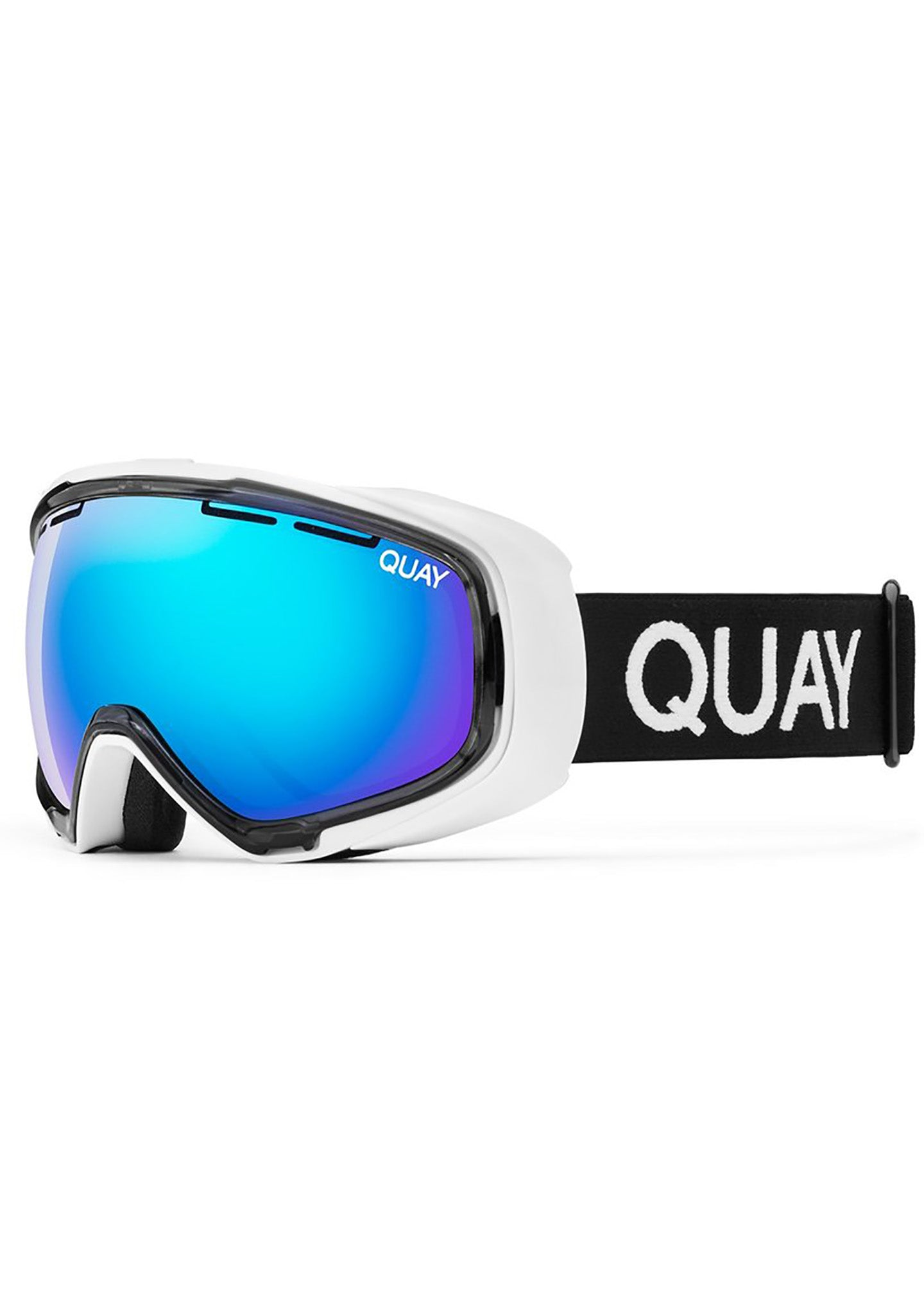 Quay Australia White Out Goggles in White/Purple