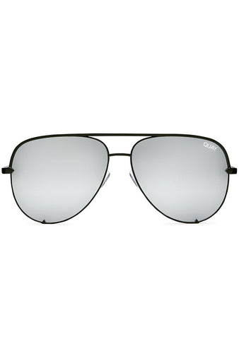 Quay Australia X Desi Perkins High Key Sunglasses Mini in Black/Silver