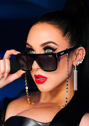 X Jaclyn Hill Very Busy Sunglasses in Black/Smoke