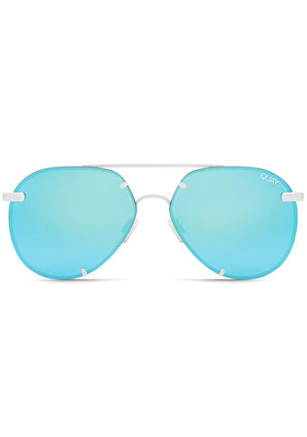 X Nabilla Rebelle Sunglasses in White Blue