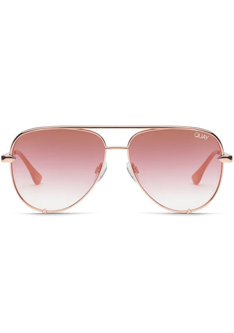 Quay Australia X Desi Perkins High Key Sunglasses in Rose/Copper Fade