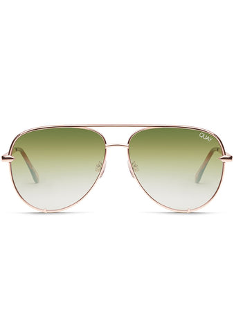 X Desi Perkins High Key Sunglasses in Rose/Green Fade