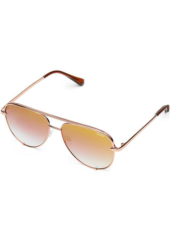 X Desi Perkins High Key Mini Sunglasses in Rose/Copper Fade