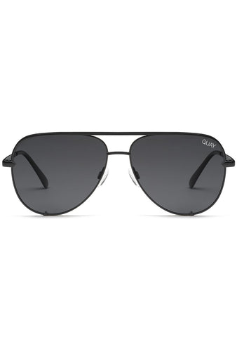 X Desi Perkins High Key Mini Sunglasses in Polarized Black/Smoke