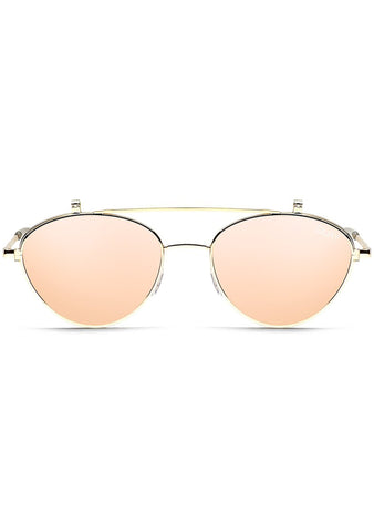 X Elle Ferguson ELLE Sunglasses in Gold/Rose