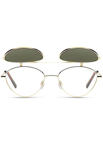 X Elle Ferguson ELLE Sunglasses in Gold/Green