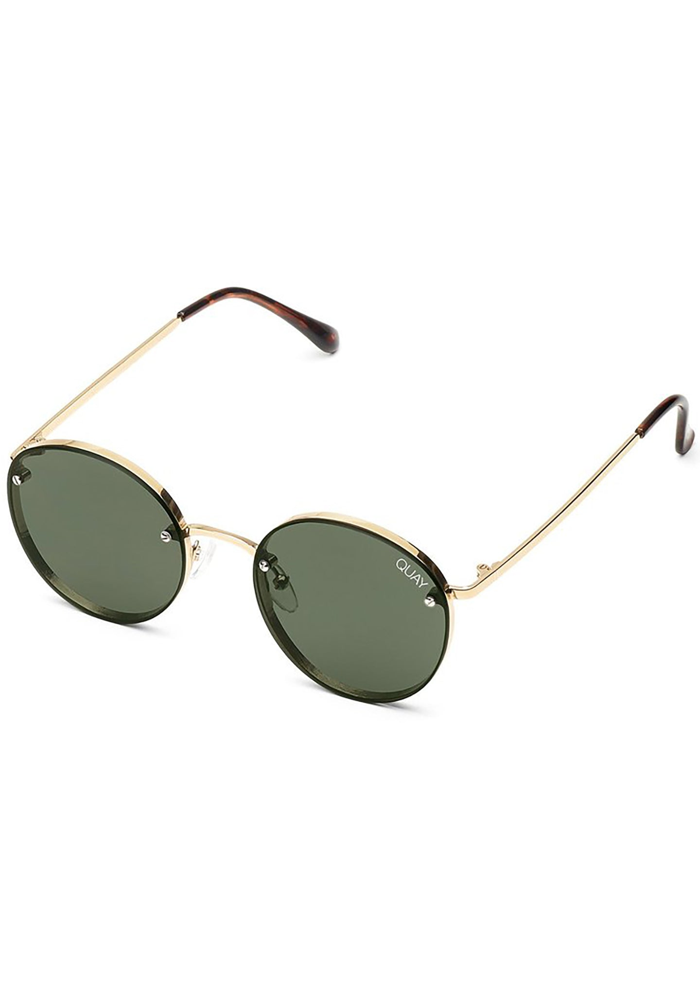 X Elle Ferguson Farrah Sunglasses in Gold/Green
