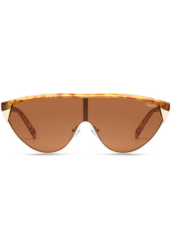 X Elle Ferguson Goldie Sunglasses in Brown/Orange Tortoise