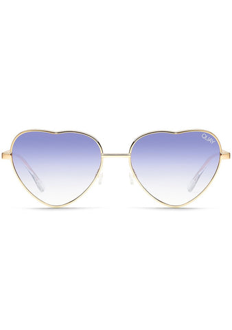 X Elle Ferguson Kim Sunglasses in Gold/Blue Fade