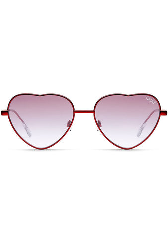 X Elle Ferguson Kim Sunglasses in Red/Purple Fade
