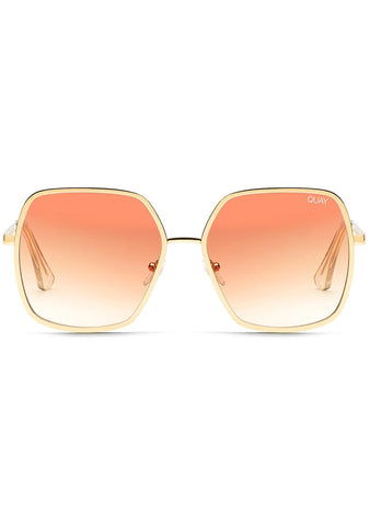 x Finders Keepers UNDERCOVER Sunglasses Gold/Peach
