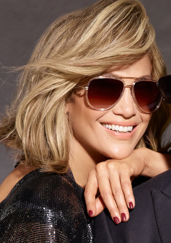 X JLO All In Sunglasses in Clear/Brown