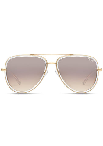 X JLO All In Mini Sunglasses in Clear/Brown