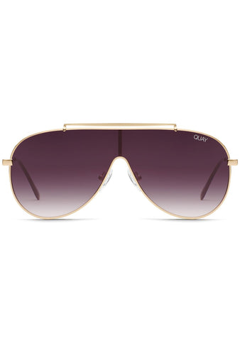 X JLO El Dinero Sunglasses in Gold Purple Fade