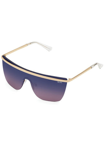 X JLO Get Right Sunglasses in Gold Purple