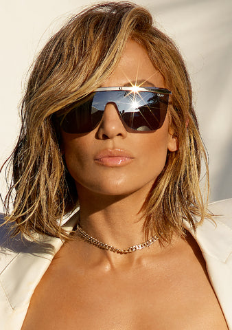 X JLO Get Right Sunglasses in Gold Silver