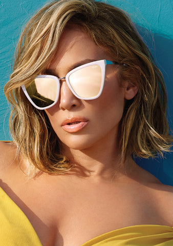 X JLO Reina Sunglasses in Pearl Rose Gold