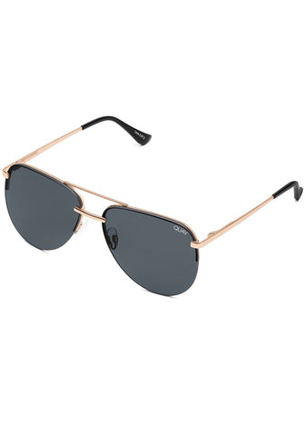 X JLO The Playa Sunglasses in Rose Gold Smoke