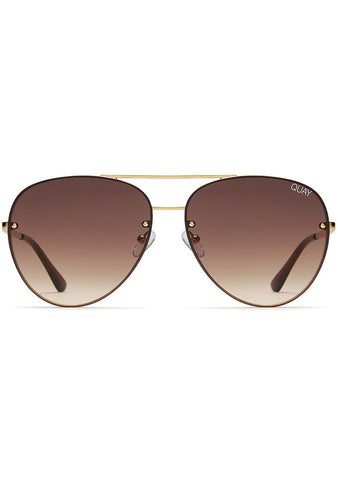 X Missguided Cool Innit Sunglasses in Gold/Brown