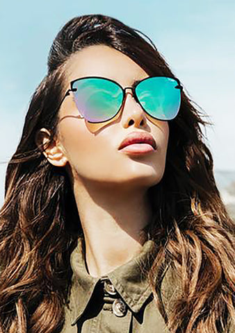 X Nabilla Dusk to Dawn Sunglasses in Black Pink Rainbow