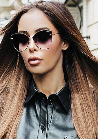 X Nabilla Dusk to Dawn Sunglasses in Gold Smoke