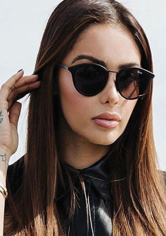 X Nabilla Gotta Run Sunglasses in Matte Black Smoke