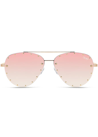 X Jaclyn Hill Roxanne Sunglasses in Gold/Rose